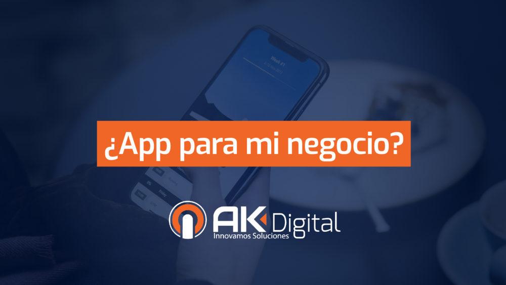 Necesita mi negocio una aplicación móvil