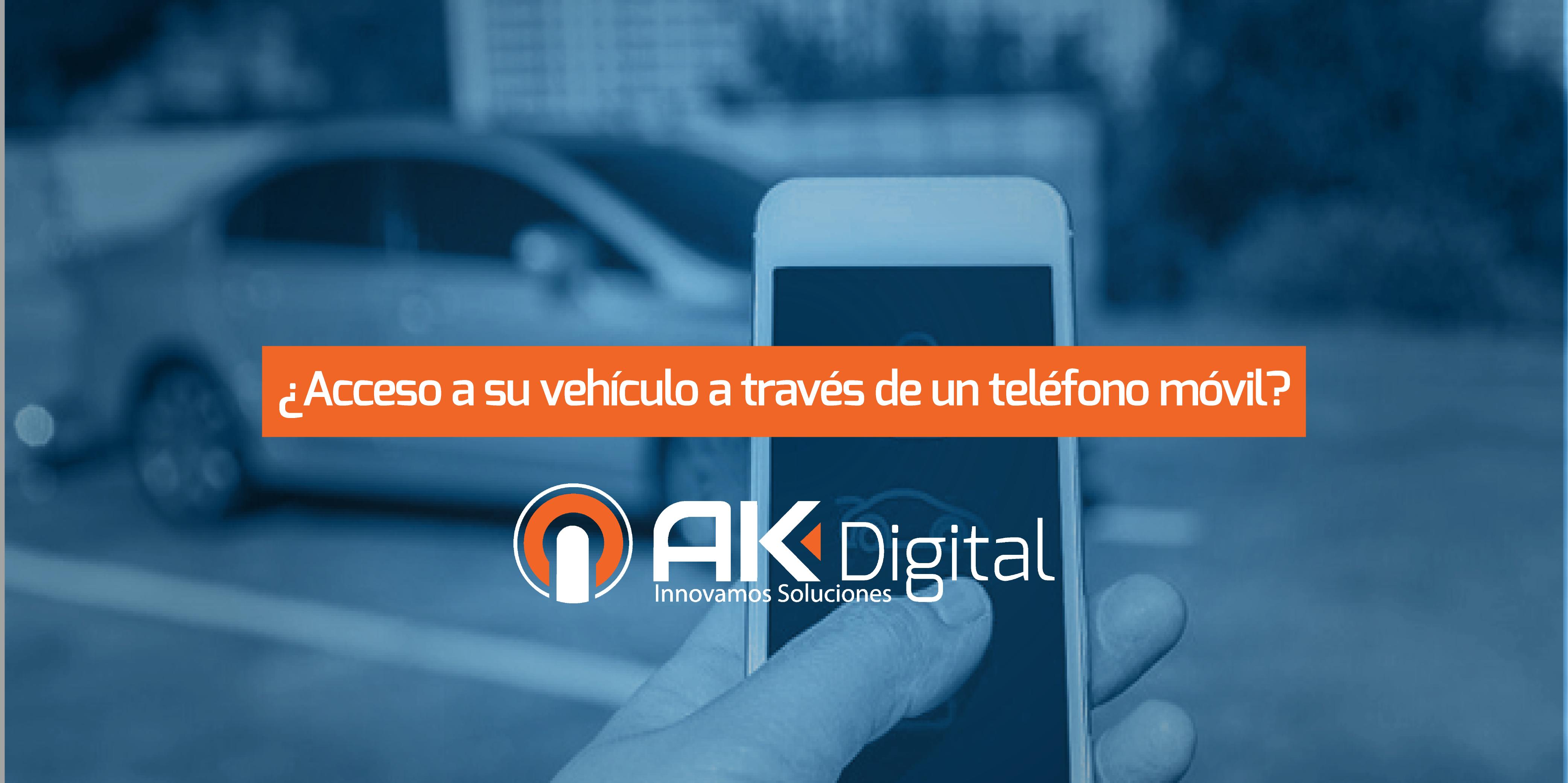 ¿Acceso a su vehículo através de un teléfono móvil?